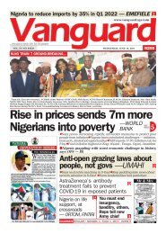 16062021 - Rise in prices sends 7m more Nigerians into poverty -