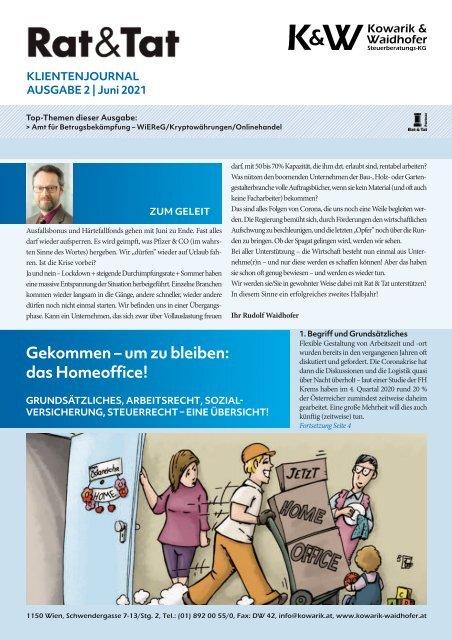 Rat & Tat - Klienten-Info / Ausgabe 2/2021