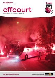 offcourt - Das Brose Bamberg Business Club-Magazin