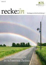 recke:in - Das Magazin der Graf Recke Stiftung Ausgabe 2/2021