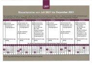 Steuertermine von Juli  2021 bis Dezember 2021
