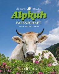 Alpkuh Patenschaft Broschüre