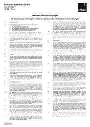 Besondere Vertragsbedingungen für Bauleistungen und Montage