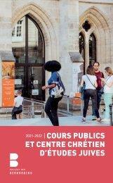 Livret des cours publics 2021-2022