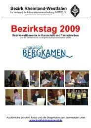Bezirkstag 2009 - Bezirksstenografenjugend Rheinland-Westfalen