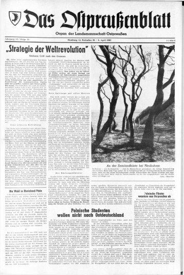 Folge 14 vom 06.04.1963 - Archiv Preussische Allgemeine Zeitung
