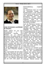 Winter 2012 / 2013 - Katholische Pfarrgemeinde St. Arnold Janssen