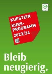 WIFI Kufstein Kursprogramm 2021/22