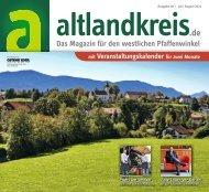altlandkreis - Das Magazin für den westlichen Pfaffenwinkel - Ausgabe Juli/August 2021