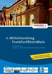 11. Mittelstandstag FrankfurtRheinMain - Convent