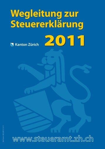 Wegleitung zur Steuererklärung 2011 - Kantonales Steueramt ...