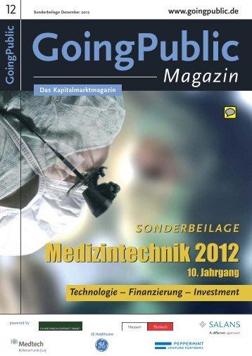 GP Medtech 2011 - GoingPublic.de