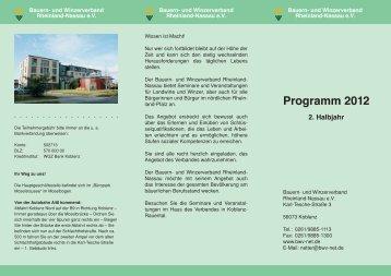 Programm 2012 2. Halbjahr - Bauern