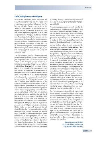 Psychotherapeutenjournal 3/2003 (.pdf)