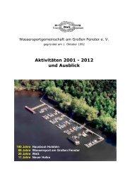Aktivitäten 2001 - 2012 und Ausblick - Wassersportgemeinschaft am ...