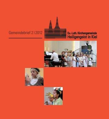 Gemeindebrief 2 - Ev.-Luth. Kirchengemeinde Heiligengeist