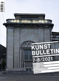 Kunstbulletin Juli/August 2021
