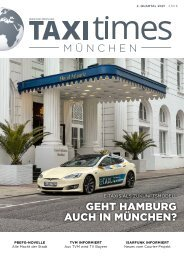 Taxi Times München - 2. Quartal 2021