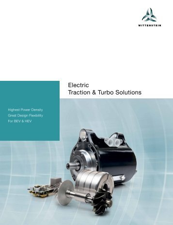 Wittenstein Electric Traction & Turbo Solutions