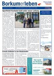 23.06.2021 / Borkumerleben - Die wöchentliche Inselzeitung