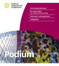 Erasmus Centrum voor Zorgbestuur -  Podium december 2019