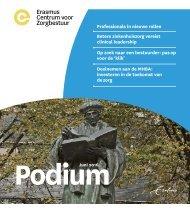 Erasmus Centrum voor Zorgbestuur  - Podium juni 2016