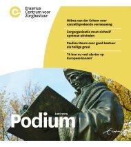 Erasmus Centrum voor Zorgbestuur -Podium juni 2015