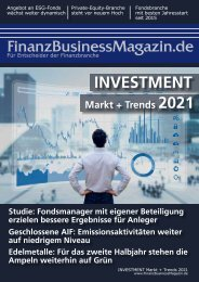 FinanzBusinessMagazin - INVESTMENT Markt + Trends 2021