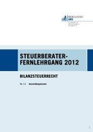steuerberater- fernlehrgang 2012 - AWS Arbeitskreis für Wirtschafts