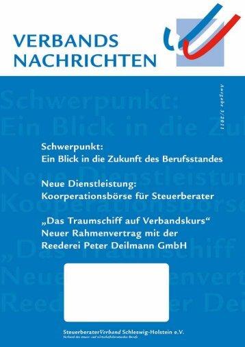 Ausgabe 3/2011 - Steuerberaterverband Schleswig-Holstein e.V.