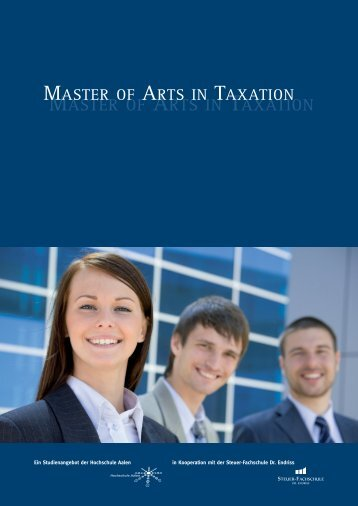 Master of Arts Steuerberater - Master of Arts in Taxation