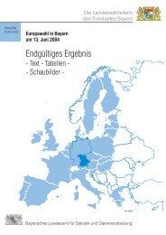 Europawahl in Bayern am 13. Juni 2004 - Bayerisches Landesamt ...