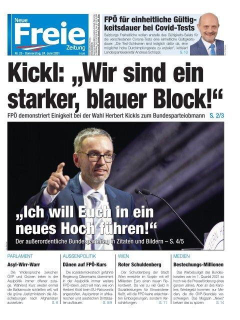 """Kickl: """"Wir sind ein starker, blauer Block!"""""""