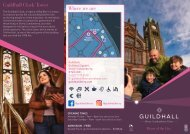 Guildhall Welcome Flyer