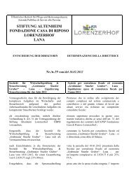stiftung altenheim fondazione casa di riposo lorenzerhof lana