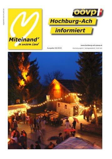 wir gratulieren - ÖVP Hochburg-Ach