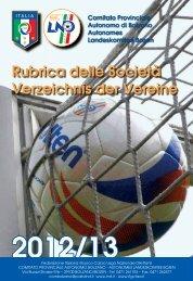 rubrica \ verzeichnis 2012/2013 - FIGC Trentino-Alto Adige