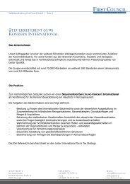 steuerreferent (m/w) konzern international - FIRST COUNCIL GmbH