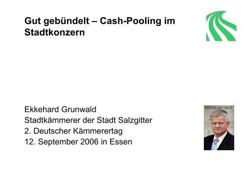 Gut gebündelt – Cash-Pooling im Stadtkonzern