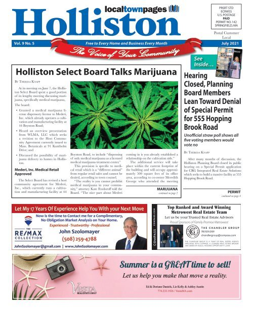 Holliston July 2021