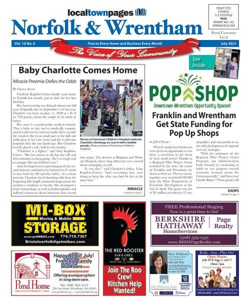 Norfolk & Wrentham July 2021