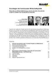 Grundlagen der kommunalen Wirtschaftspolitik - Handelshaus ...