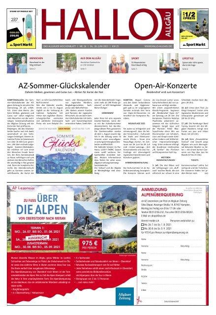 Hallo-Allgäu  vom Samstag, 26.Juni
