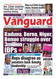 27062021 - Kaduna, Borno,  Niger, Benue strruggle over 3 million IDP