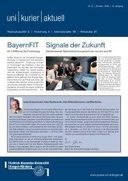 uni kurier aktuell | Nr. 73 - Universität Erlangen-Nürnberg
