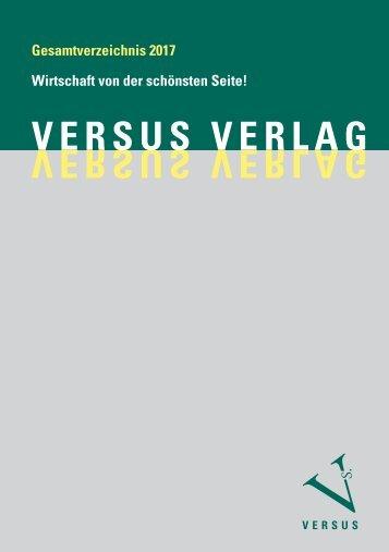 Gesamtverzeichnis Versus Verlag 2017