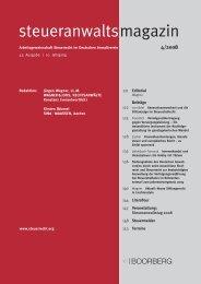 steueranwaltsmagazin Heft 4/2008 - Wagner-Joos Rechtsanwälte
