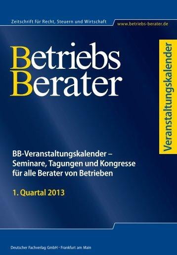 1. Quartal 2013 - Betriebs-Berater