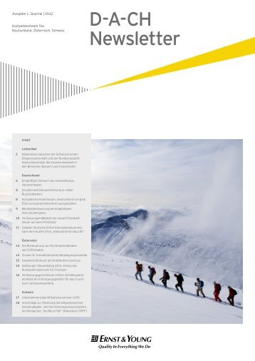 D-A-CH Newsletter – 1. Quartal 2012 - Home - Ernst & Young ...