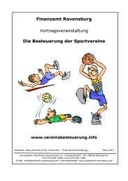 Die Besteuerung der Sportvereine www.vereinsbesteuerung.info